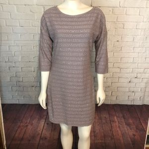 Express Mini Dress Striped Sequin Holiday Brown M